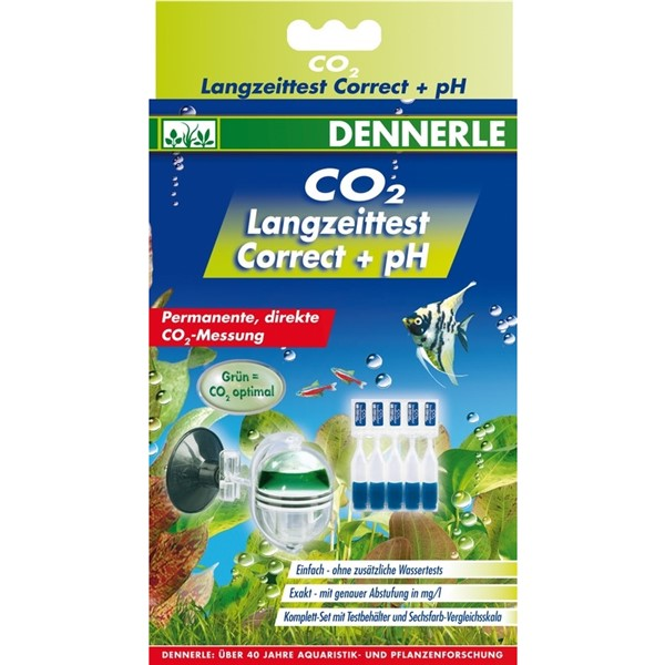 DENNERLE Profi-Line CO2 Tester - kompletní Drop-checker + 5ks náplní